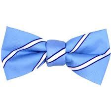 boys light blue tie boys magnetic white striped blue bow tie brobows