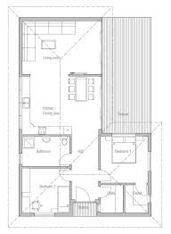 Vaulted Ceiling Open Floor Plans Small House Plan To Narrow Lot With Two Bedrooms Open Plan