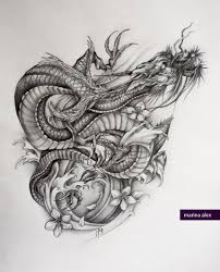 dragon tattoo sketch real photo pictures images and sketches