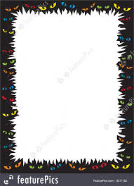 halloween frame clipart templates scary eyes frame stock illustration i3211102 at