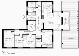 plan de maison de plain pied avec 4 chambres plan de maison plain pied 4 chambres avec garage beau plan maison 6