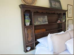 antiquelifestyle how to use a vintage hutch for a headboard