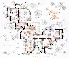 Floor Plan Of An Apartment Golden Girls House Floor Plan Floor Plans Of Homes From Famous Tv