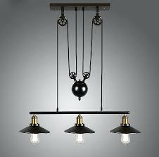 Retractable Ceiling Light Adjustable Height Ceiling Light Fixtures Loft Vintage Iron