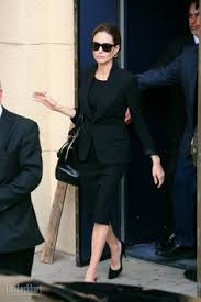 my black dress office style black suits scarves