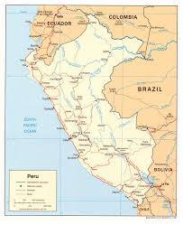 Map Of Peru South America by Large Detailed Political Map Of Peru With Cities Peru Large