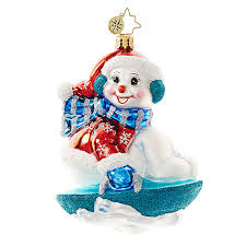 christopher radko ornaments snowmen ornaments
