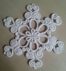 clay snowflake winter project maybe ornament