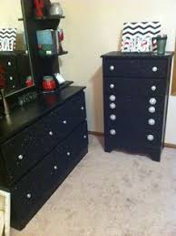 black dressers for bedroom girly dresser black glitter bling dresser painted furniture