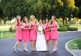 pink bridesmaid dresses creating bridal look with pink bridesmaid dresses