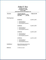 resume templates exles free basic resume model pertamini co