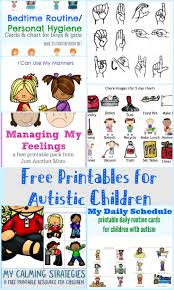free printables for autistic children and their families or