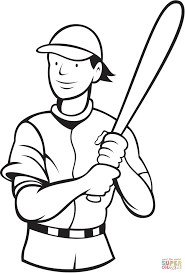 baseball batting stance coloring page free printable coloring pages