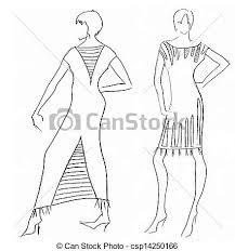 stock illustration of dress design by egyptian motives sketch of