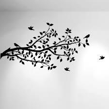 tree branches wall decal birds vinyl sticker nursery leaves 1296 1296 tree branch wall decal with birds black