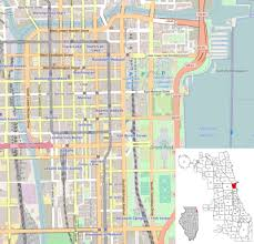 chicago map printable template location map united states chicago loop