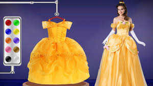 learn colors beauty and the beast belle dress colors for