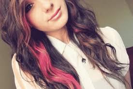 highlights underneath hair 24 pretty ways to wear punky pink streaks in brown hair
