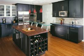 black kitchen island with stainless steel top chic small galley kitchen with island with white wooden kitchen