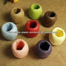 raffia ribbon 20m khaki craft paper raffia ribbon paper string paper for gift