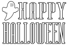 hello kitty happy halloween coloring pages print hallowen
