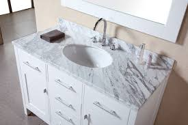 Adorna  Inch Single Sink Bathroom Vanity Set Carrera White Top - 48 white bathroom vanity cabinet