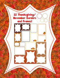 november thanksgiving borders and frames a turn to learn