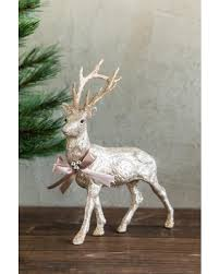 savings on glitter reindeer decor