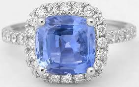 light blue sapphire engagement rings 3 62 ctw cushion light blue sapphire and engagement ring