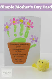 Mother S Day Greeting Card Ideas by Mother U0027s Day Cards Children U0027s Handprint In Green To Make The Base