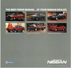 nissan sentra xe 1987 1987 nissan hardbody truck d21 dealer brochure us market nicoclub