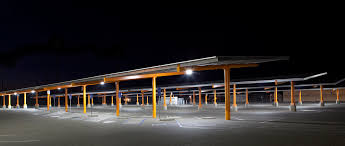 solar panel parking lot lights woodland unified pairs smart lighting with new solar structures