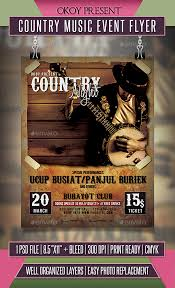 template flyer country free country music event flyer event flyers country music and event