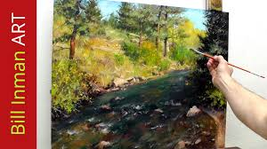 how to paint a colorado river and trees online art classes in