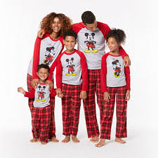 disney mickey and minnie mouse family pajamas jcpenney