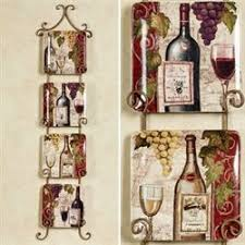 wine bottle plates dinnerware kitchen dining touch of class