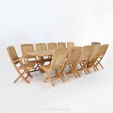Teak Outdoor Dining Table And Chairs Outdoor Dining Set Teak Extension Table And 12 Chairs Teak