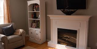 Electric Fireplace With Mantel Building A Custom Electric Fireplace Surround Planitdiy