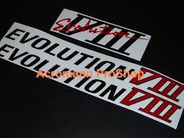 mitsubishi ralliart stickers acromann online shop