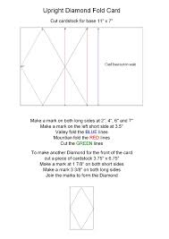 28 best cards upright diamond fold images on pinterest card
