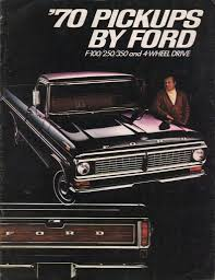 Old Ford Truck Brochures - the 1970 auto brochure power quiz the daily drive consumer