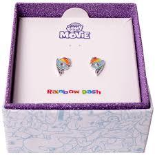 my pony earrings my pony friendship is magic rainbow dash stud earrings