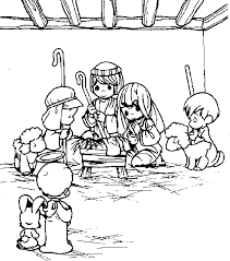 precious moments nativity coloring sheet children