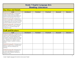 common core math and ela lesson plan organizers for the middle