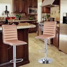 Bar Stool Sets Of 3 Joveco Modern Hydraulic Lift Adjustable Leather Bar Stools Set Of