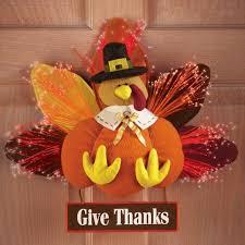 buy fiber optic color changing lights turkey wall hanging harvest