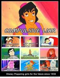 Compulsive Liar Memes - disney preparing girls for the future since 1935 weknowmemes