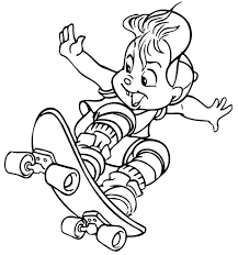 alvin chipmunk coloring sheet cowboy alvin chipmunks