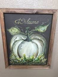 Where To Buy Fall Decorations - pumpkin art screen made to order fall fall decor welcome sign