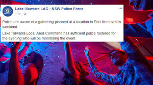 ad police police get in early as word spreads of port kembla house party